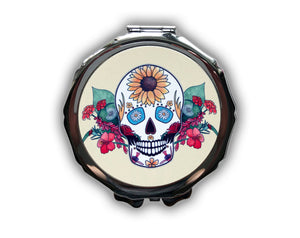'Seasonal' Sugar Skull Compact Mirror