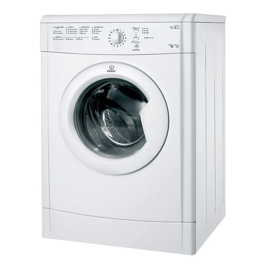 Indesit Eco Time IDVL75BR 7Kg Vented Tumble Dryer In White