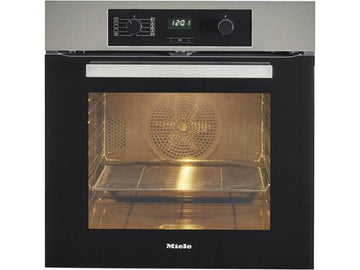 Miele H2265-1BP Built-In Single Electric Oven In Clean Steel