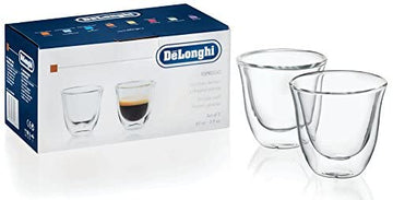 De'longhi 5513214591 Espresso Thermo Glasses - Pack of 2