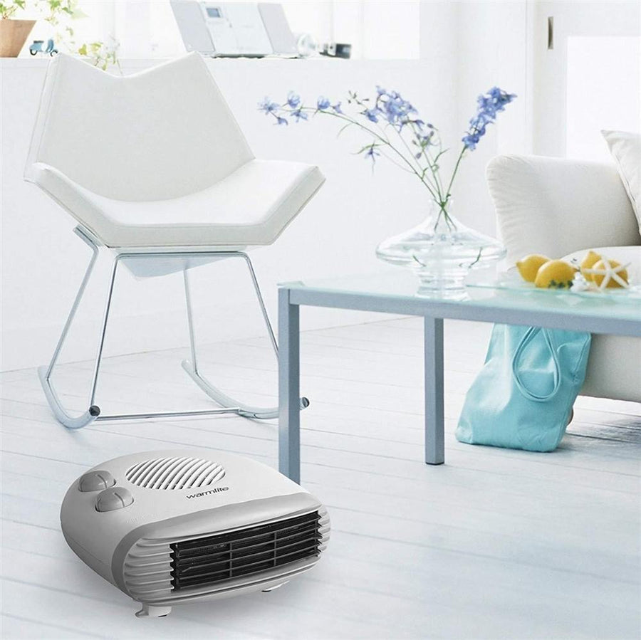Warmlite WL44004  - 2kW Flat Fan Heater With Thermosta