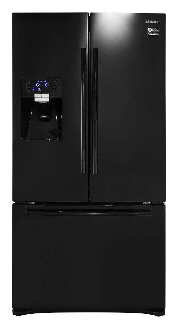Samsung RFG23UEBP1 520L American Style Freestanding Fridge Freezer Frost Free 3 Door 91cm Wide - Black with Free 5yr P&L Warranty (T&C Apply)