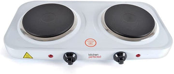 Lloytron E4202WH Kitchen Perfected Double Hotplate In White