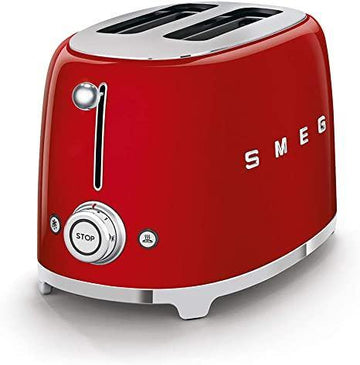Smeg TSF01RDUK 50's Retro Style Toaster In Red