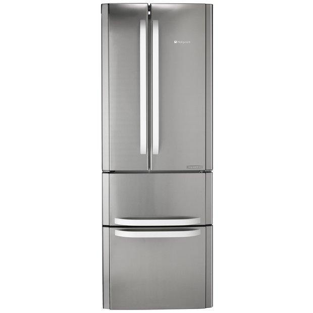 Hotpoint FFU4DX American Style Fridge Freezer In Stainless Steel - A+ Rated