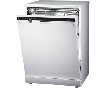 LG D1484WF TrueSteam Direct Drive 14 Place Freestanding Dishwasher White - Now at our best price ever!