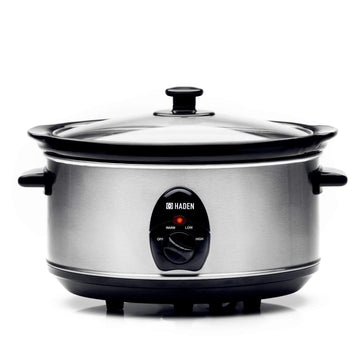Haden 189677, 4.5ltr Stainless-Steel Slow Cooker