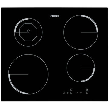 Zanussi ZEI6840FBV 59cm Induction Hob In Black