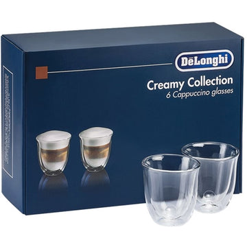 De'Longhi Delonghi 5513296661 Creamy Collection Cappuccino Glasses, Set of 6