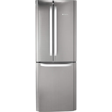 HOTPOINT FFU3D.1X Trio Freestanding Fridge Freezer With French-style Fridge Doors Silver
