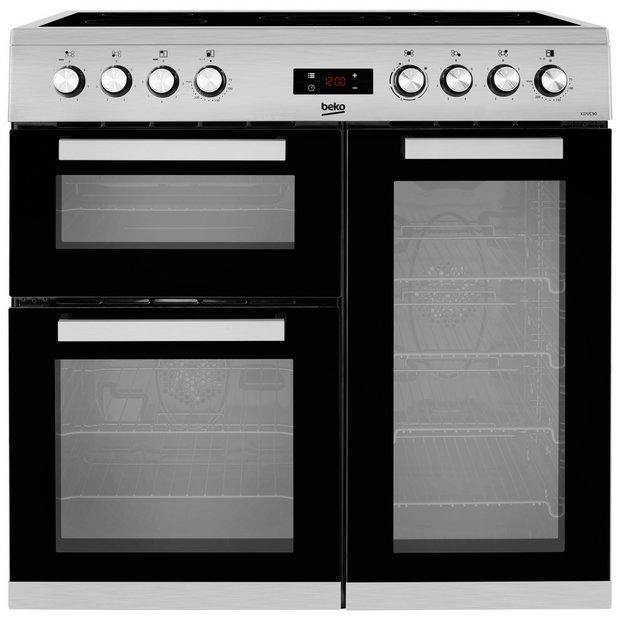 Beko KDVC90X 90cm Electric Range Cooker with Ceramic Hob - Stainless Steel - A/A Rated