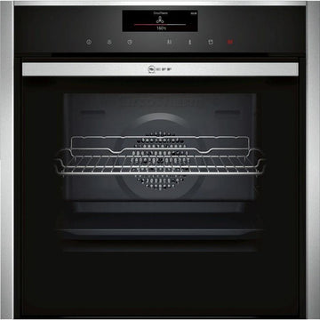Neff B58VT68H0B Slide and Hide VarioSteam Single Electric Oven, Black - A energy rating