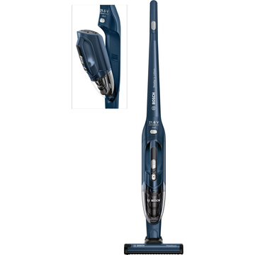 Bosch BBHL2R21GB Cordless Upright Vacuum Cleaner, Blue