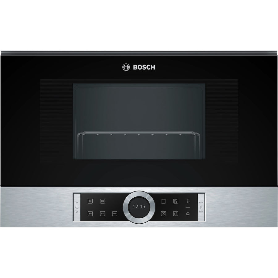 Bosch BEL634GS1B Serie 8  Built In Microwave With Grill - Brushed Steel