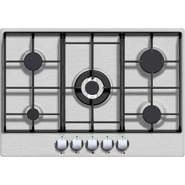 Iberna by Baumatic BGHU700SS 70cm 5 Burner S/Steel Gas Hob - with Free 2yr P&L Warranty