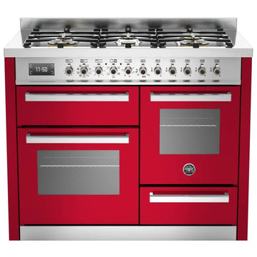Bertazzoni PRO110-6-MFE-T-ROT 110cm XG Bertazzoni Professional Dual Fuel Range Cooker With 6 Burner - Please Call for Price!!