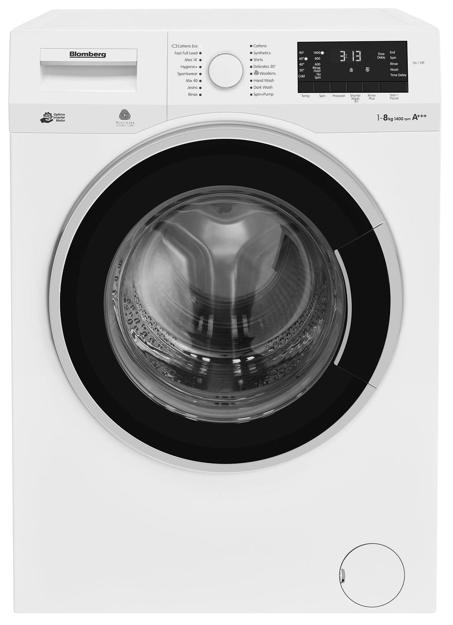Blomberg LWF28441W 8kg 1400 Spin Washing Machine - A+++ Rated