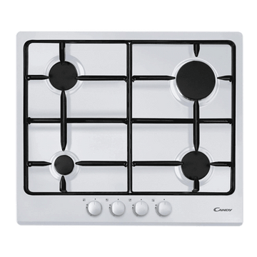 Candy CPG64SPB Four Burner Gas Hob White