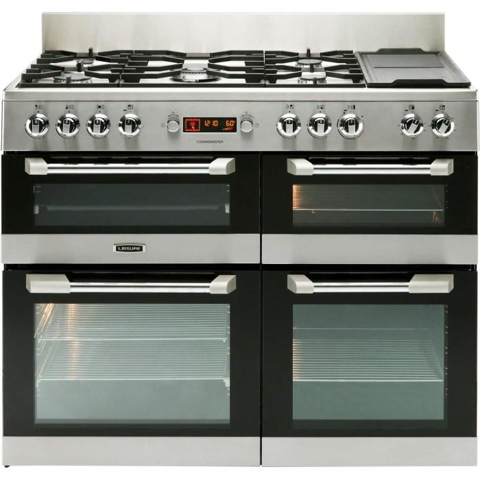LEISURE Cuisinemaster CS110F722X Dual Fuel Range Cooker in Stainless Steel - £1229 - After £200 Cashback from Leisure - £1029 (T&C Apply)