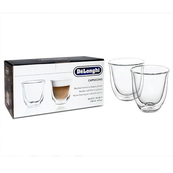 De'longhi 5513214601 Cappuccino Thermo Glasses Pack of 2