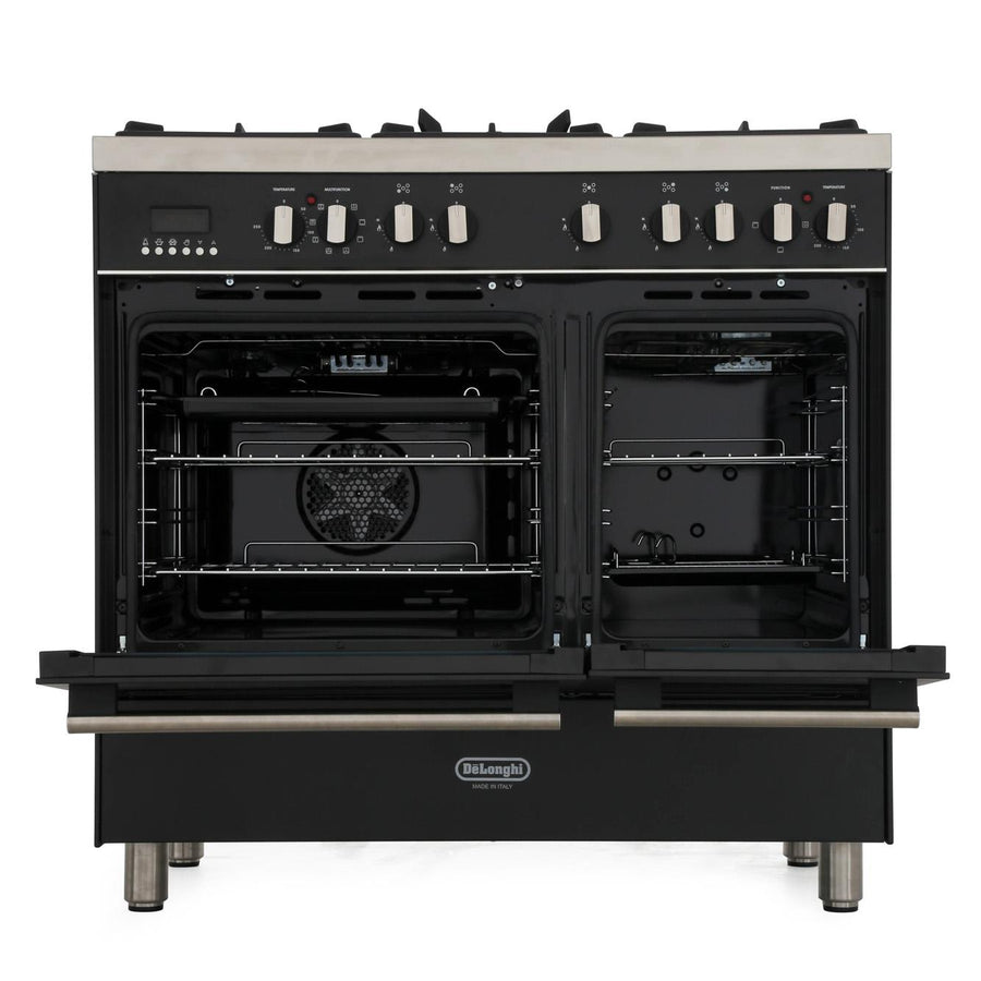 De'Longhi DTR906DFAN 90cm Professional Twin Cavity Dual Fuel Range Cooker in Anthracite