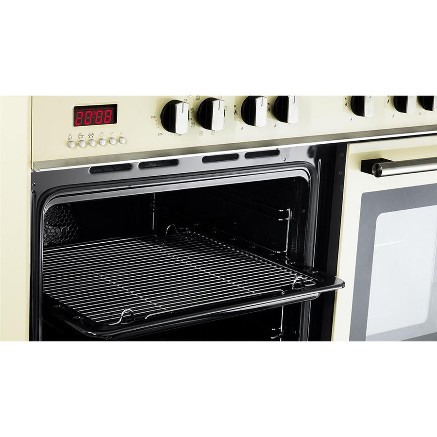 De'Longhi DTR906DFCR 90cm Professional Twin Cavity Dual Fuel Range Cooker in Cream