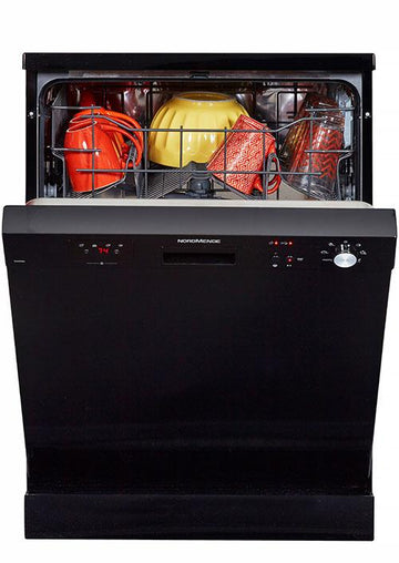 NORDMENDE DW66BL Freestanding 60 cm Dishwasher in Black with Free 3yr Parts & Labour Warranty