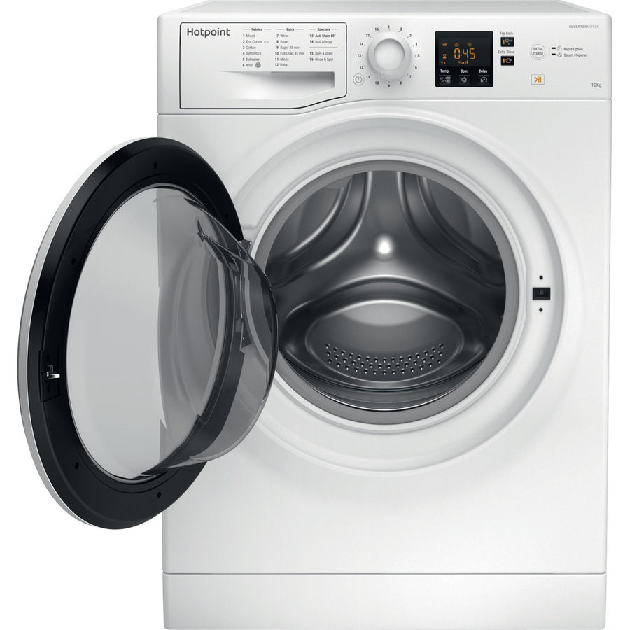 Hotpoint NSWM1043CW 10kg 1400rpm Freestanding Washing Machine In White