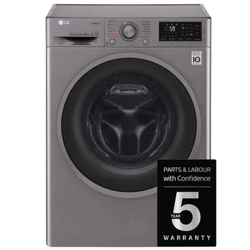 LG F4J609SS 9kg Steam Washing Machine 1400rpm in Graphite - Free 5yr Warranty if purchased by 31 May 2020