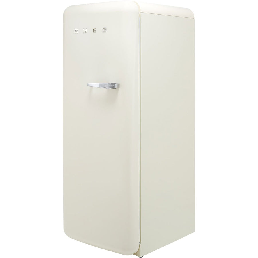 Smeg FAB28LCR3UK Fifities Style Left Hand Hinge Freestanding Fridge With Ice Box - Cream