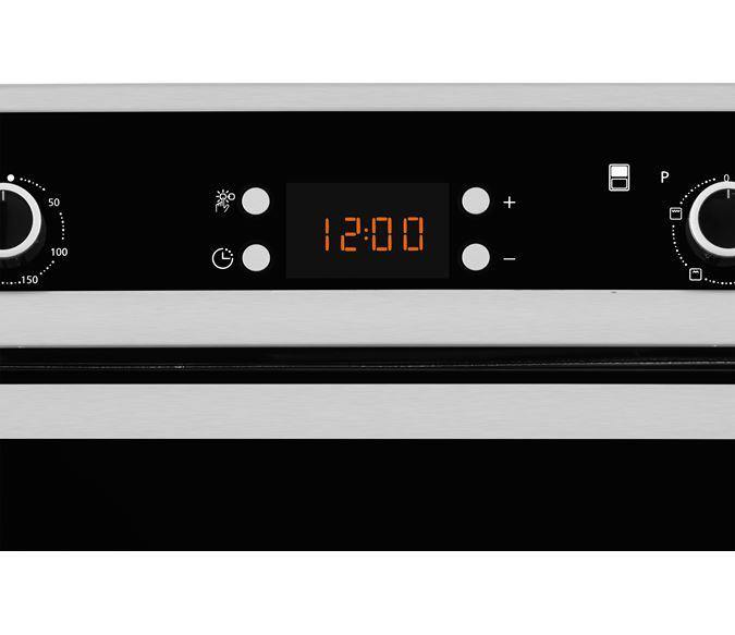 Flavel FLV92FX 90cm Built-In Fan Double Oven with Programmable Timer - A/A