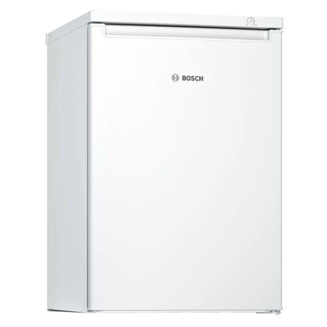 Bosch GTV15NWEAG freestanding undercounter freezer in white. 3 drawers and low frost technology.