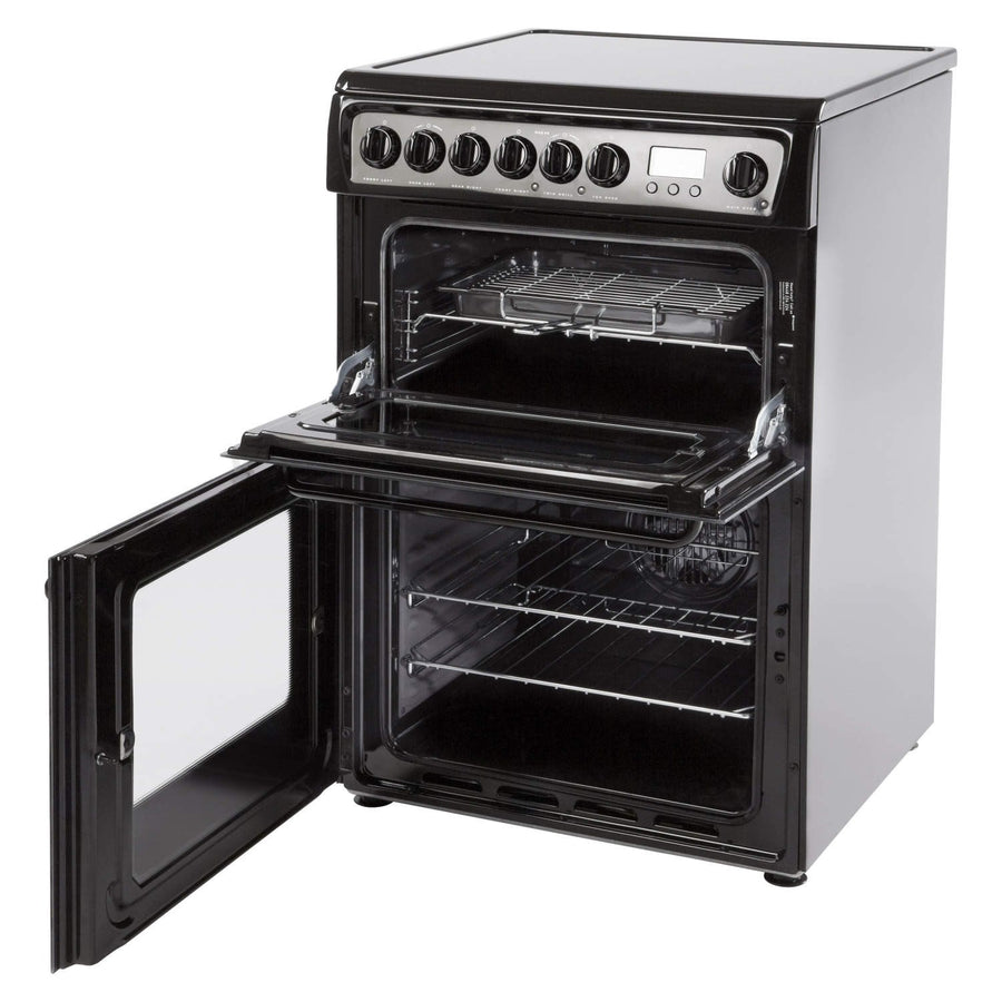 Hotpoint HAE60KS Electric Cooker with Ceramic Hob - Black