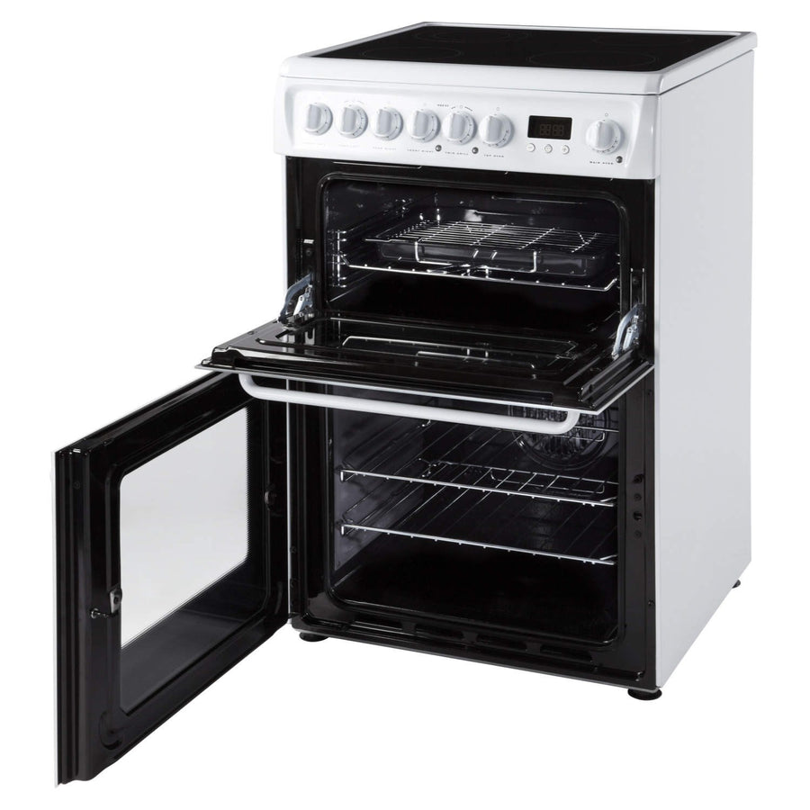 Hotpoint HAE60PS Electric Cooker with Ceramic Hob - White