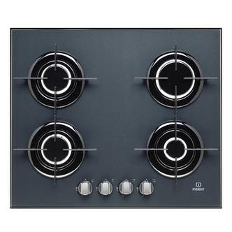 Indesit IPG640SGR 60 cm Gas On Glass Hob