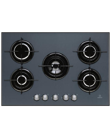 Indesit IPG751SGR 75cm Gas Hob Black Glass