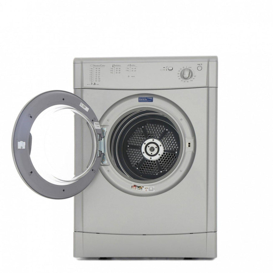INDESIT IDV75S EcoTime 7kg Freestanding Vented Tumble Dryer In Silver