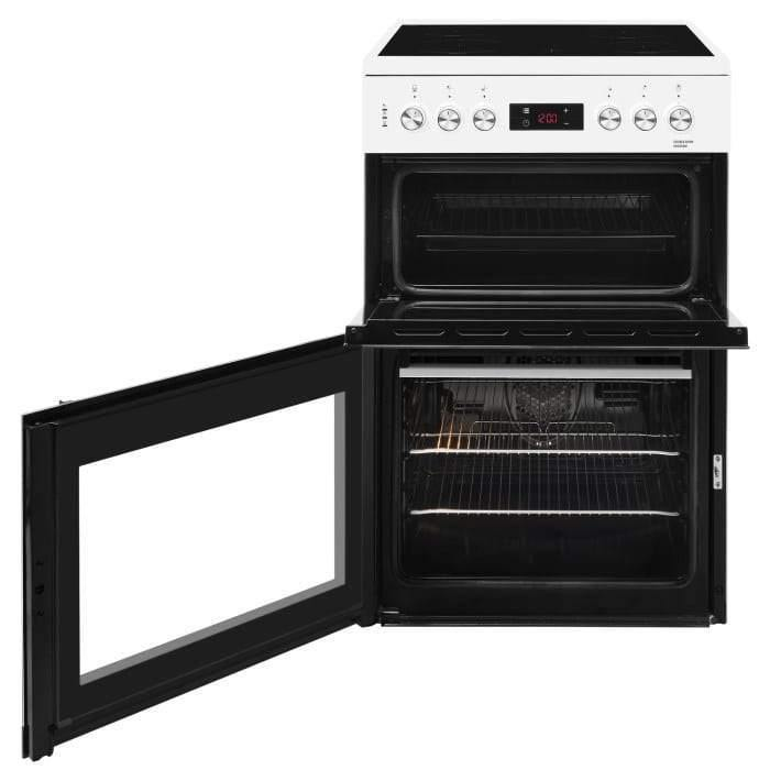 Beko KDC653W 60cm Double Oven Electric Cooker With Ceramic Hob - White