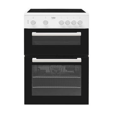 Beko KTC611W electric cooker with ceramic hob