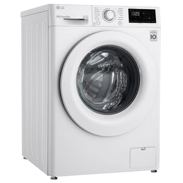 LG F4V308WNW AI Direct Drive 8kg 1400rpm Washing Machine - 14 Min Quick Wash - Free 2 Year Parts&Labour Warranty