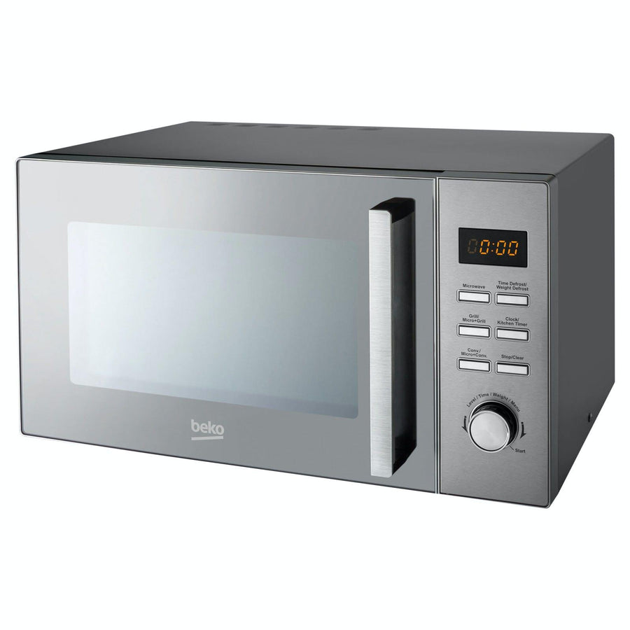 Beko MCF28310X Freestanding 900W 28-Litre Convection Microwave with Grill In Stainless Steel