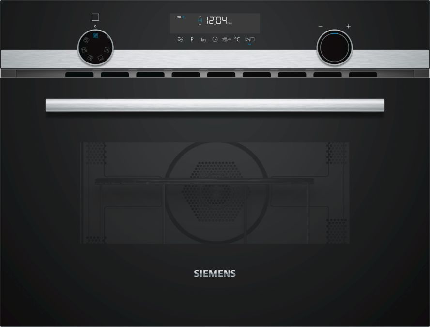 Siemens CM585AMS0B Built-In Combination Microwave Oven with Grill, Stainless Steel