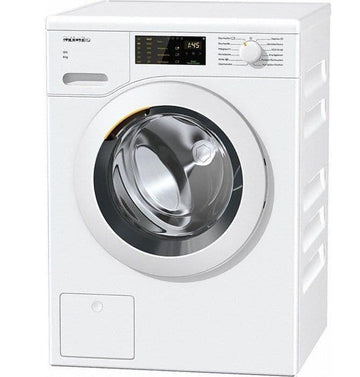 Miele WCD120WCS 8kg washing machine - Large porthole door with LED display - Honeycomb drum