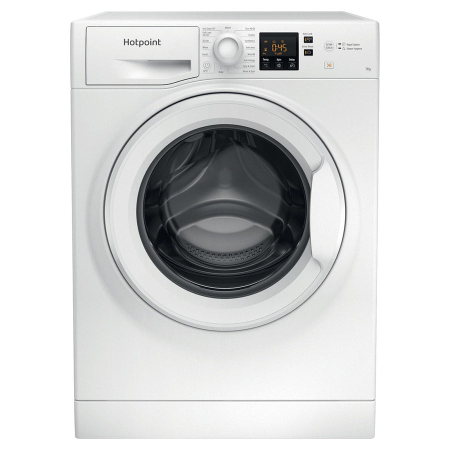 Hotpoint NSWF742UWUKN 7kg washing machine in white with 1400 rpm spin speed