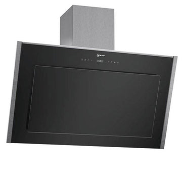 Neff D39DT57N0B Black glass angled canopy 90 cm wide - **Free of charge recirculating kit Z5135X4 included**
