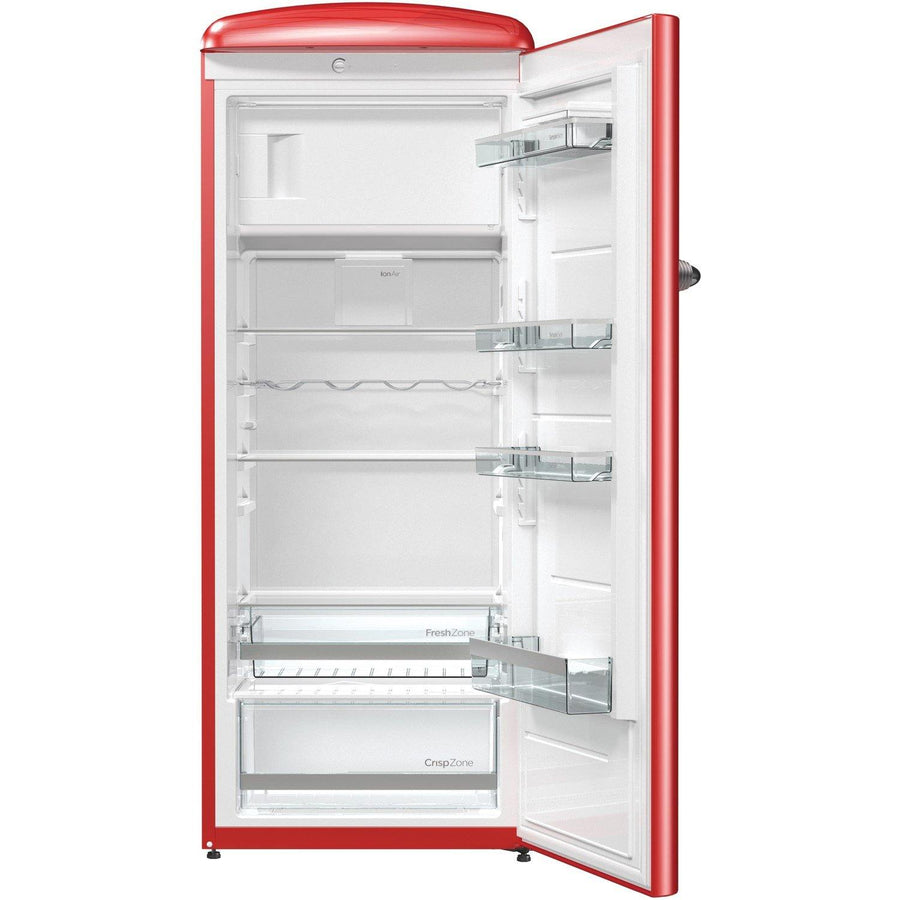 Gorenje Retro Collection ORB153RD Fridge with Ice Box - Red - A+++ Rated