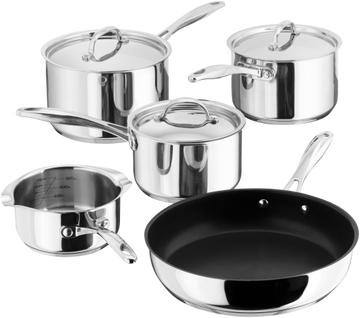 STELLAR PP374 7000 5-piece Cookware Set with Draining Lids - Stainless Steel