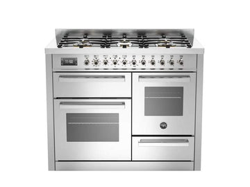 Bertazzoni PRO110-6-MFE-T-XT 110cm XG Bertazzoni Professional Dual Fuel Range Cooker With 6 Burner - Please Call for Price!!