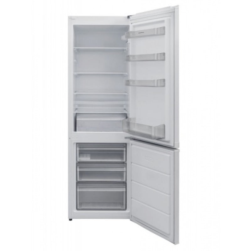 NordMende RFF60403WH 170x54cm Low Frost Freestanding Fridge Freezer In White - Free 3yr Parts & Labour Warranty On Registration
