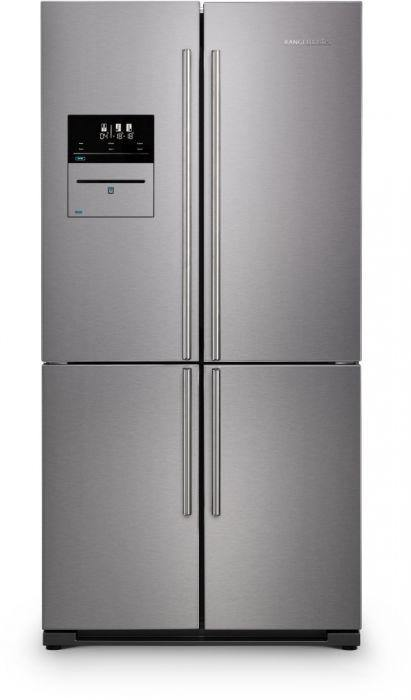 Rangemaster RSXS19SS/C Frost Free Stainless Steel with Chrome Trim American Fridge Freezer - A+ Rated